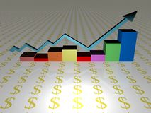 Rising sales chart Stock Photos