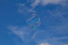 Rising soap bubbles Stock Photos
