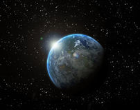 Rising in space Royalty Free Stock Photo
