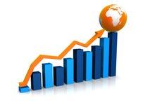 Rising statistic Royalty Free Stock Photo
