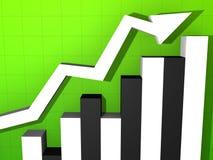 Rising stats stock illustration