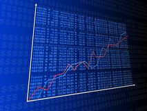 Rising stock numbers Stock Photo