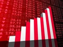 Rising stock statistic Royalty Free Stock Image