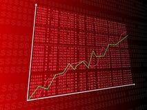 Rising stock statistic Stock Photo
