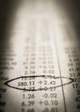 Rising stocks stock image
