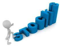 Rising stocks Royalty Free Stock Photography