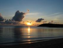 Rising Sun. Sun rising over ocean royalty free stock photography