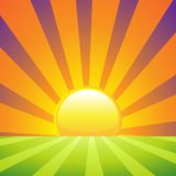 Rising Sun Royalty Free Stock Images