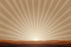 Rising sun background Stock Images