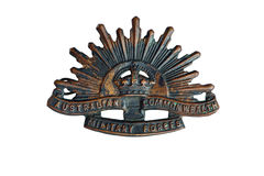 Rising Sun Badge Royalty Free Stock Image