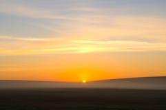 Rising sun beams royalty free stock photo