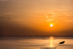 The Rising Sun. The Gulf of Thailand. Royalty Free Stock Images