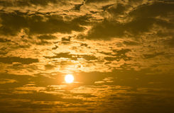 Rising sun in the morning Royalty Free Stock Photo