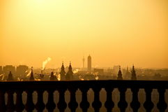 Rising sun over the city Royalty Free Stock Images
