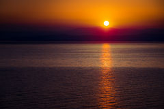The Rising Sun Over the Sea Royalty Free Stock Photography