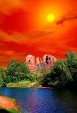 Rising Sun Sedona Arizona Royalty Free Stock Photography