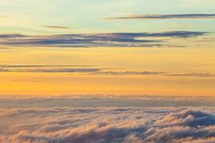 The rising sun, sky cloud sunrise abstract, background and fog. Stock Photography