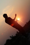 The rising sun royalty free stock image