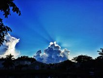 The rising sun. Sunrise on a beautiful Florida morning Royalty Free Stock Photography