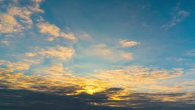 Rising of the sun, time-lapse stock footage