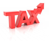 Rising tax concept, 3d render Royalty Free Stock Photos