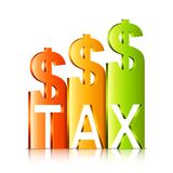 Rising Tax Rate Concept Royalty Free Stock Photo