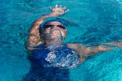 Rising to the surface with speed. royalty free stock photography