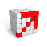 Rising up red block structure arrow Royalty Free Stock Images
