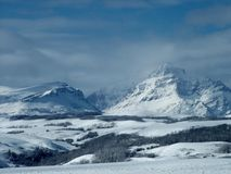 Rising Wolf Mountain, Winter royalty free stock image