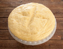 Rising Yeast Dough in bowl Royalty Free Stock Photos