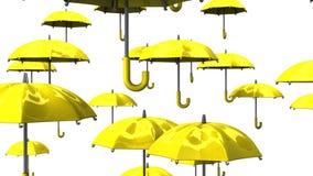 Rising Yellow Umbrellas stock footage