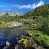 Risjok river in Khibiny Mountains, Russia Royalty Free Stock Photography