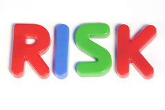 Risk. Colored text with the word risk. Great colors Royalty Free Stock Image
