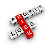 Risk. Profit, loss and risk (3d crossword series Royalty Free Stock Image