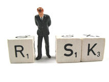 Risk. A businessman is depressed after some risky transactions royalty free stock image