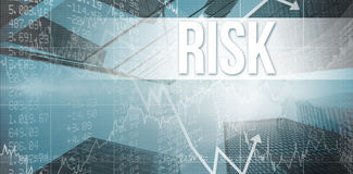 Risk against skyscraper Stock Photography