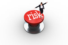 Risk against white background with vignette Royalty Free Stock Image