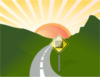 Risk ahead road illustration design landscape Royalty Free Stock Images