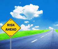 RISK AHEAD sign - Business concept Royalty Free Stock Images