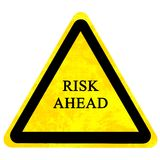 Risk ahead sign Royalty Free Stock Photos