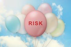 Risk on balloon royalty free stock photos