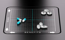 Risk Benefit Assessment of Drugs Royalty Free Stock Images