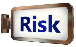 Risk on billboard background. Risk wall light box billboard background , isolated on white Stock Images