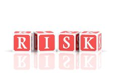 Risk Blocks Stock Image