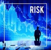Risk Business Data Banking Finance World Exchange Concept stock photo