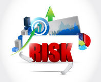 Risk business graph illustration Royalty Free Stock Photos