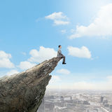 Risk in business Stock Image
