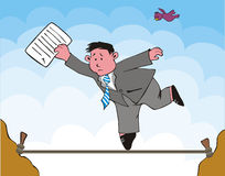 Risk of the businessman. The Allegorical scene of the businessman, which risks. Weakness, vagary of the business Stock Images