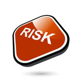 Risk button. Three dimensional illustration of red risk button, isolated on white background Stock Photos