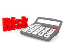 Risk with calculator Royalty Free Stock Image